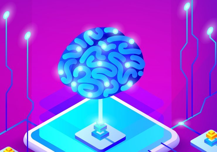 Artificial intelligence brain vector illustration